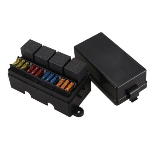 1X 12 Way Blade Sicherungshalter Box mit Flachstecker und Sicherung 4PCS 4P Z1A2