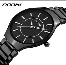 Ultrathin Black Dial Men's Watch Extraordinary Beautiful Elegant BusinessWatch