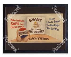 Historic-WWI-Recrutiment-Poster-Buy-more-Liberty-Bonds-Postcard