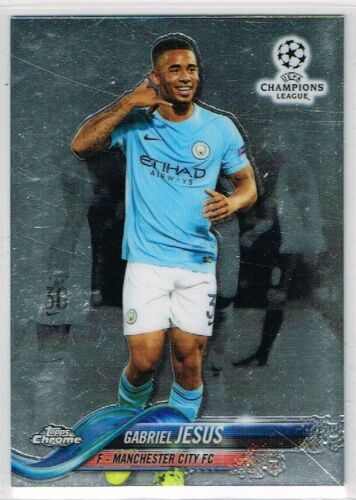 Topps CHAMPIONS LEAGUE CHROME 2017-2018 ☆ Football Base Cards ☆ #1 to #99