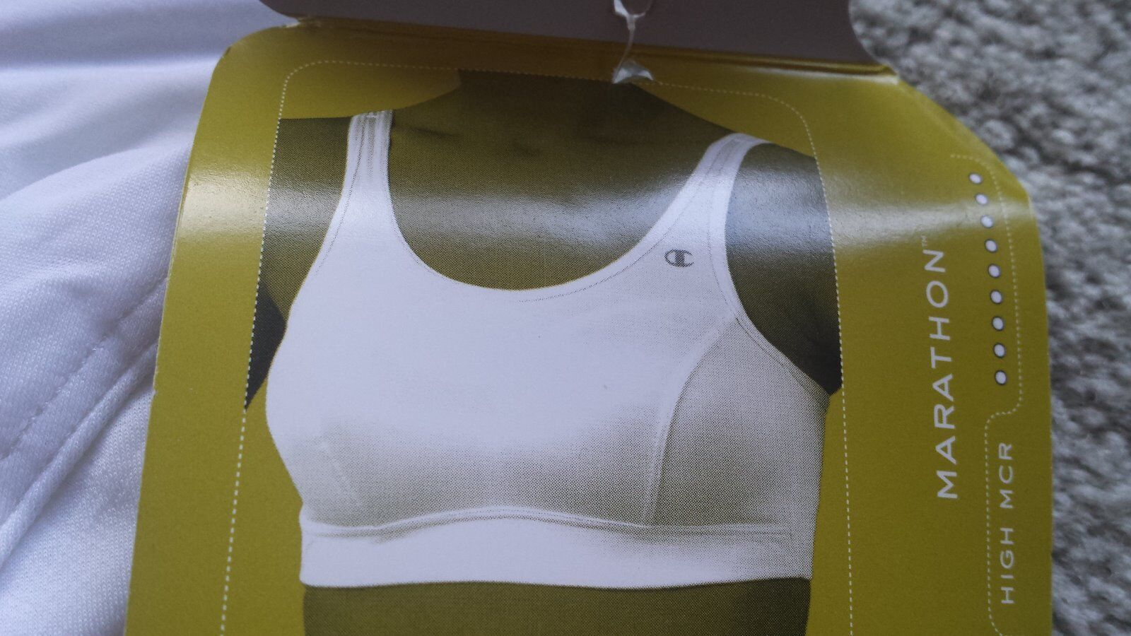 NEW Champion Sports Bra, White, High Impact, Size 34C, SOLD OUT