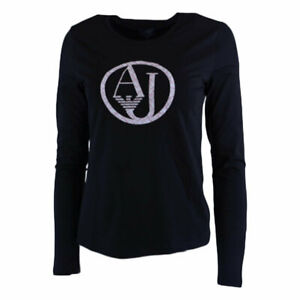 ARMANI-JEANS-7V5T04-5J00Z-0209-Womens-T-Shirt-Crew-Neck-Long-Sleeve-Casual-Tee
