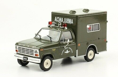 Ford F-150 Air Force 1982 Ambulance silverina Rare Diecast Scale 1 43