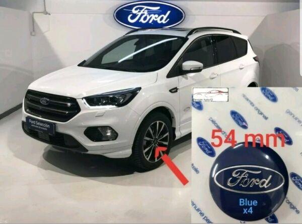 4x Cache De Moyeu Ford 54mm Blue Alloy Wheel Cap Center New Ref.nr- 1429118 Moda Attraente