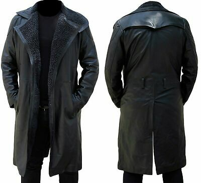 Mens Long Trench Coat Winter Black, Mens Long Black Winter Coats