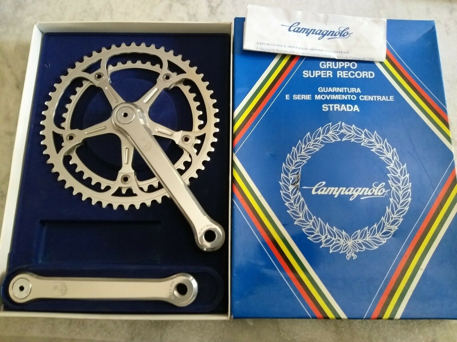 NIB Campagnolo Super  Record Crankset vintage the heroic  lowest whole network