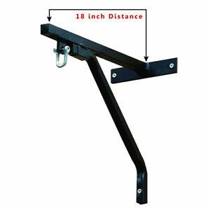 "Heavy Duty 18""Boxing Punch Bag Metal Wall Bracket Steel Chain Mount Hanging Hook"