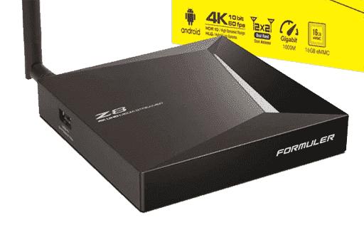 Formuler Z8 Dual Band 4K, 2/16GB Mytvonline app