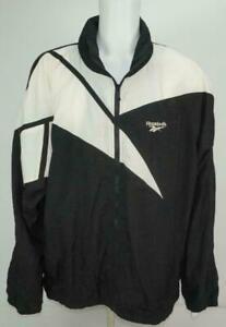 Reebok-Veste-Coupe-Vent-Grand-Logo-Homme-Piste-Haut-Taille-XL-Noir