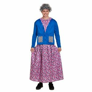 Adult FUNNY GRANNY WITH ROLLERS Fancy Dress Wig Mrs Brown Stag Party Housewife