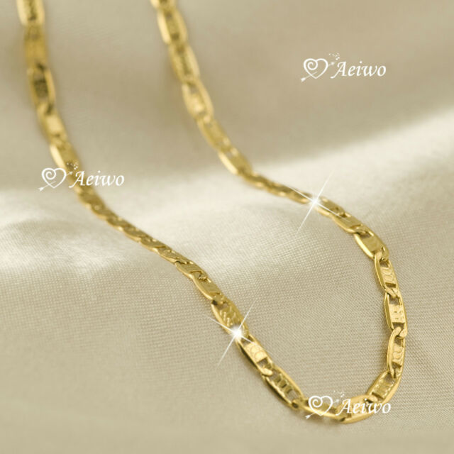 18K YELLOW GOLD GF CHAIN LONG NECKLACE 80CM AEIWO