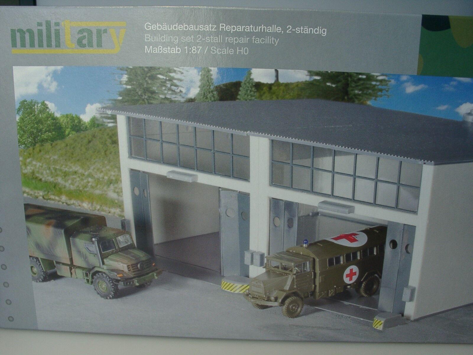 Herpa Military bâtiment Kit de réparation Halle, 2-tout le temps - 745857 - 1 87