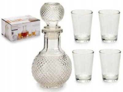 Romantico Bottiglia Per Liquore Palla Con 4 Bicchierini Shots Idea Regalo Casa Cucina Bar