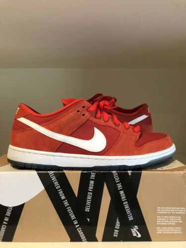 nike sb dunk low challenge red size 11.5