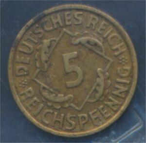 German-Empire-Jagerno-316-1935-J-ext-fine-5-reich-pfennig-spikes-7879600