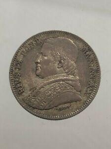 Etats Papaux. Pio Ix 20 Baiocchi Double Giulio 1865 Roma Année Xx Q Spl
