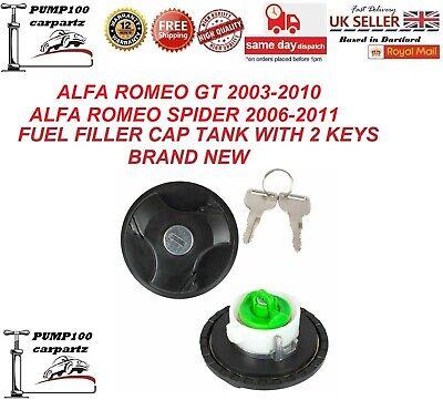 Alfa GT Junior Locking Fuel Petrol Cap Polished Stainless Steel 2 Keys