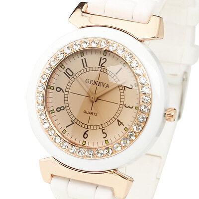 Elegant White Jewelry Watches For Women Lady Girl Sport Wristwatch Reloj female