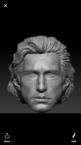 Star wars Rise of Skywalker Klyo ren custom head sculpt hasbro black series