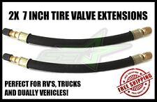 2 TIRE VALVE STEM EXTENSIONS 7 INCH EXTENDED VALVE LINES 4 DUAL TIRES TRUCKS RV