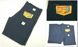 Vintage NOS 70's Saddle King von King Denim 100% Baumwolle Made in USA blau Jeans