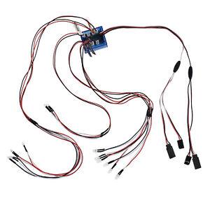 Controle-Radio-Voiture-Camion-1-10-DEL-Eclairage-Kit-de-frein-phare-Signal-Fit-2-4ghz-PPM-FM