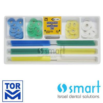 Dental Composite Finishing Polishing Discs kit 48 pcs strips 75 pcs 14 MM 1.021