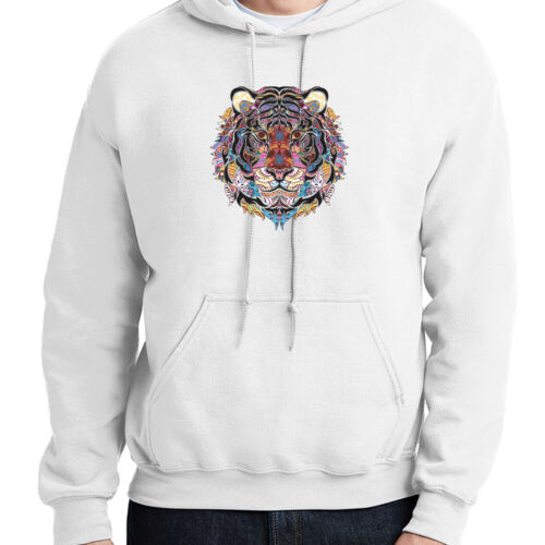 1339C Mosaic Tiger Hoodie Tattoo Wild Life Hooded Pullover