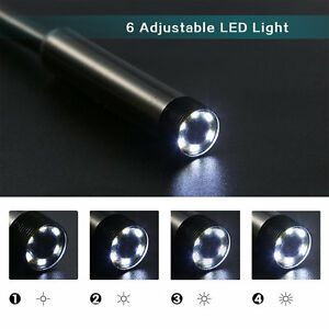 2M 6 LED USB Waterproof Endoscope Borescope Snake Inspection Video Camera 7mm#N