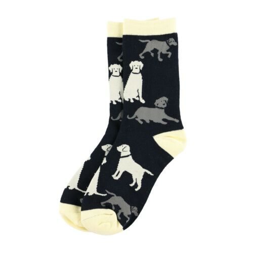LazyOne Labradors Adult Crew Socks UK 7-12//EU 41-46//US 10-13