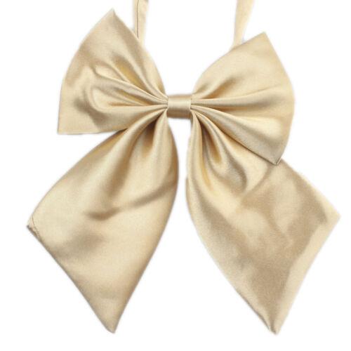 Chic Women Student Bow Tie Fashion Ladies Girl Satin Novelty BIG Bow Tie Wedding