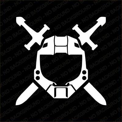 Halo Spartan Emblem Master Chief 117 Sticker Decal Ebay 6 halo logo templates halo 6. halo spartan emblem master chief 117 sticker decal ebay