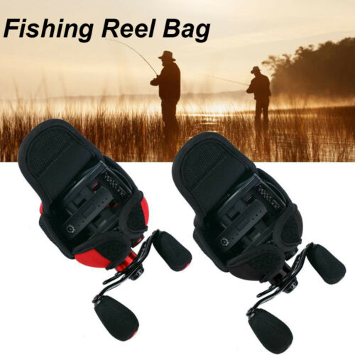 1 pc Crap Fishing Reel Bag Protective Cover Baitcasting Trolling Spinning Pouch