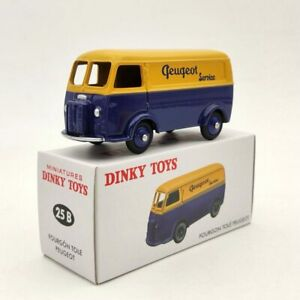1-43-Atlas-Miniatures-Dinky-Toys-25B-Peugeot-Fourgon-Tole-D-3-A-Yellow-Diecast