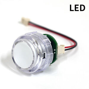 Details about 8x Crown SDB-201C LED Illuminated Arcade Player Buttons in  screw type fastener