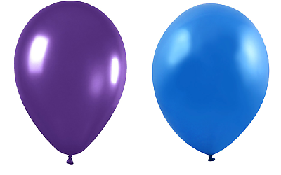 Multipack 25cm Party // Birthday Balloons Purple Sky Blue /& Lilac