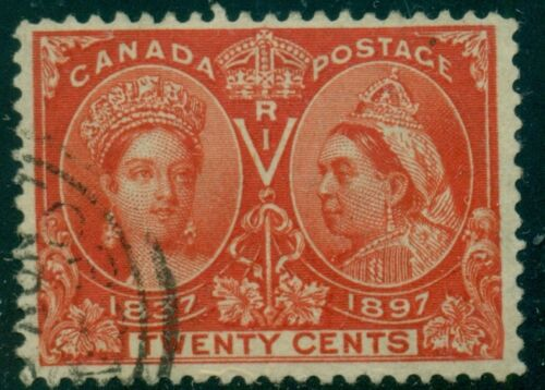 CANADA #59 Used with light face free cancel, VF, Scott $190.00