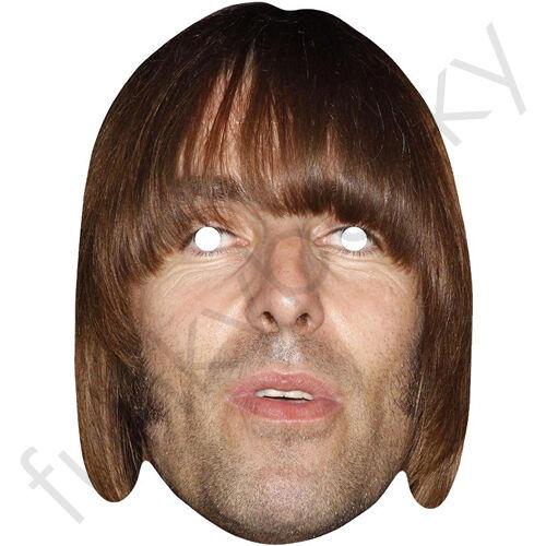 tutte le nostre maschere sono pre-tagliati! Liam Gallagher CARD FACE MASK OASIS e BEADY OCCHIO