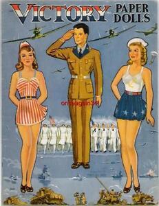 VINTAGE UNCUT 1938 FASHION SHOP PAPER DOLLS~#1 REPRODUCTION~NOSTALGIC//PRETTY