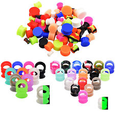 Lots 38Pairs Silicone Thin Earskin Ear Flesh Tunnels Gauges Eyelet Kits 10mm