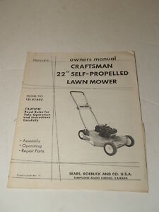 Vintage 1971 Sears Craftsman 22 Quot Self Propelled Lawn Mower