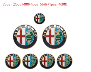 7pcs-Alfa-Romeo-Emblem-logo-klassisch-147-156-159-164-Brera-Spider-939-MITO