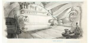 Wizards 1977 Ralph Bakshi Toby Bluth original PAN background layout drawing cel