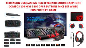 REDRAGON-USB-GAMING-RGB-KEYBOARD-MOUSE-EARPHONE-COMBOS-104-KEYS-3200