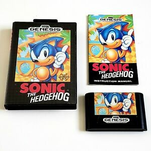 Sonic The Hedgehog Sega Genesis VIDEO GAME 1st Run Release GREAT CONDITION