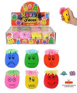 Estado de ánimo Squeeze cara Bola Anti Stress sonriente cara Reliever Masilla ADHD Autismo 6 cm Reino Unido  </span>