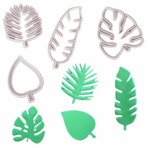 Leaves Jungle Zoo Theme Set of 4 Tropical Palm Leaf Cutters