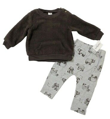 Carters Baby Boy 2 Piece Bear Fleece Pullover Pant Set 2pc Outfit 18 Months $40