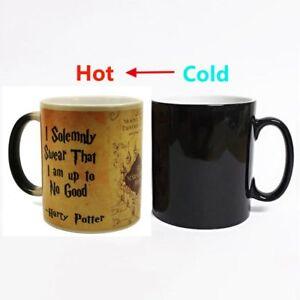 Harry Potter Marauder/'s Map Color Changing Magic black heat sensitive Coffee Mug