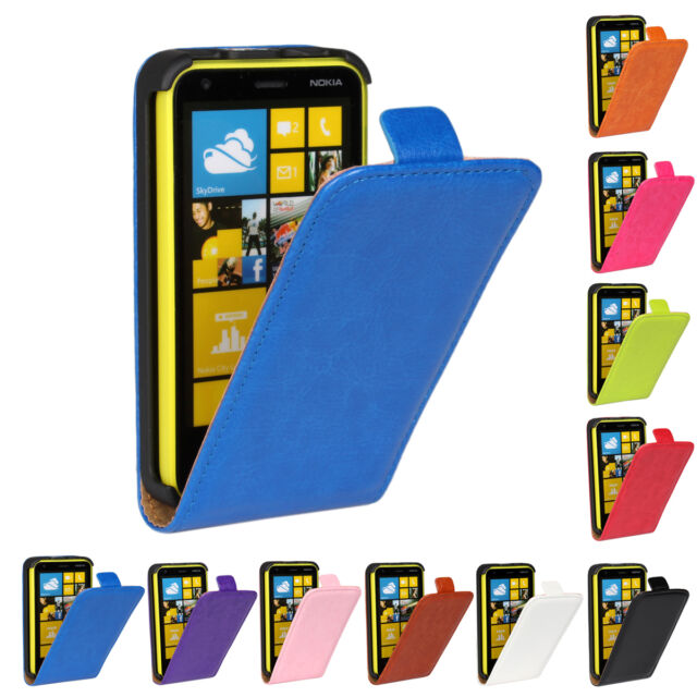 Magnetic Closure Flip Crazy Horse PU Leather case cover skin for Nokia